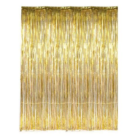 foil fringe curtain australia metalic gold foil fringe curtain bickiboo supplies