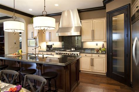 Kitchen And Living Room Designs by Vibrant Transitional Family Kitchen 2