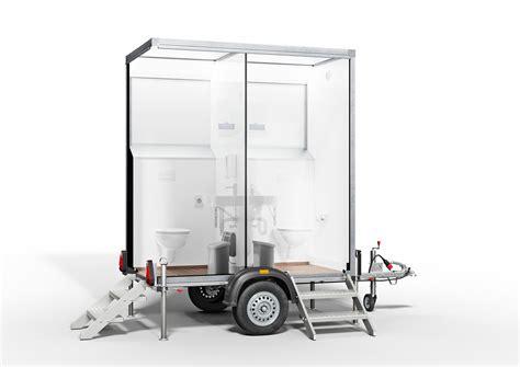 der eco wc trailer  toilettenwagen mieten fuer jeden