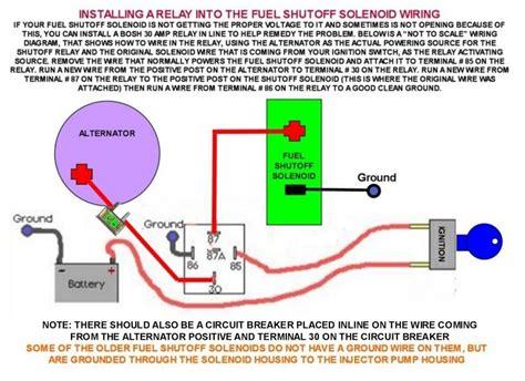 Yanmar Fuel Shut Solenoid Wiring Diagram by Fuel Shutoff Solenoid Bosh Relay Wiring Photo Iamflagman