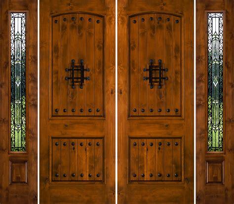 rustic knotty alder exterior doors rustic double doors