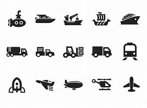 Vector Transportation Icon Set on Gray | Free Icon | All ...