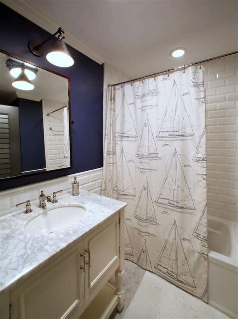 inspired nautical shower curtain  bathroom tropical