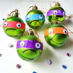 Ninja Turtle Decorations Diy ninja turtle christmas ornaments kids craft crafty morning