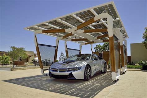 bmw solar charging carport concept  stunning functional art