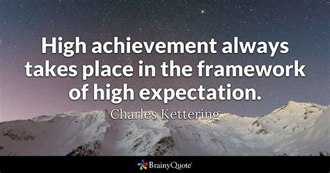 high achievement  takes place   framework