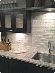wall panels for kitchen backsplash painted brick backsplash possible faux brick panels painted white for the home