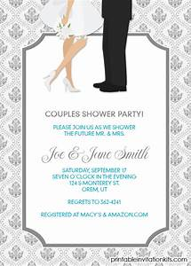 bridal shower invitations couples wedding shower With couples wedding shower invitations templates free