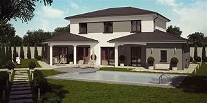 barbade moderne maison a etage construction pinterest With modeles de maisons modernes