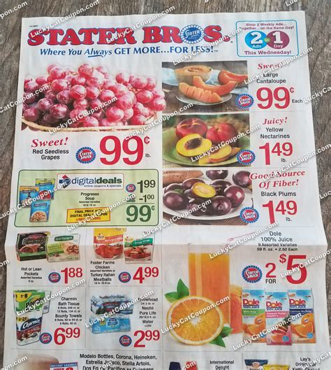 Preview of Stater Bros Grocery Ad 3/15 - 3/22 – LuckyCatCoupon