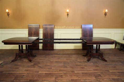 Large And Wide Mahogany Dining Table Seats 14 16 People