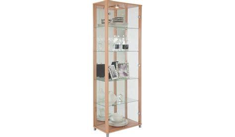 buy argos home  door glass display cabinet beech effect