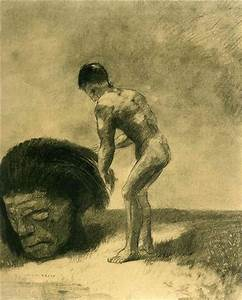 David and Goliath, 1875 - Odilon Redon - WikiArt.org