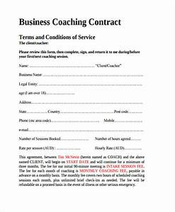8 coaching contract templates free sample example With business coaching contract template
