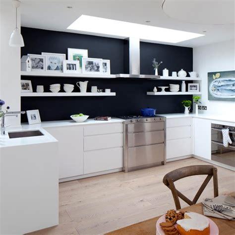 kitchen feature wall paint ideas white kitchen with glamorous lighting white kitchen design ideas housetohome co uk