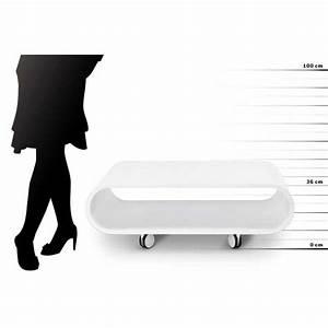Table Basse Blanche Design : table basse design play blanche ~ Nature-et-papiers.com Idées de Décoration