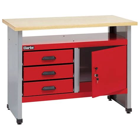 clarke cwb workbench   drawers  lockable