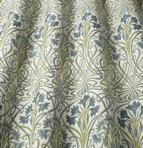 William Morris Upholstery Fabric by Iliv Prussian William Morris Style Curtain
