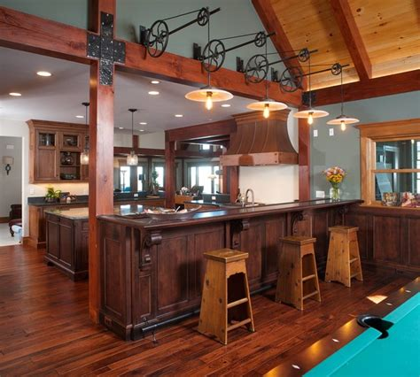 rustic lake house on erie rustic kitchen cleveland