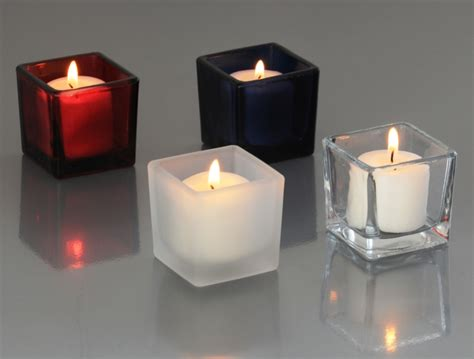 square candle holders clear glass candle holders votive holders