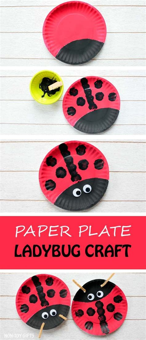 butterfly life cycle paper plate toy craft free fjextange template 25 best ideas about ladybug crafts on pinterest bug