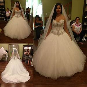 Vestido de noiva ball gown wedding dresses with crystal for Corset top wedding dress