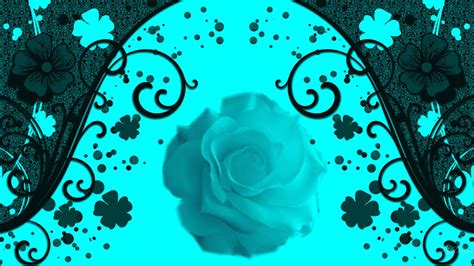 liberty flowers turquoise flowers wallpaper