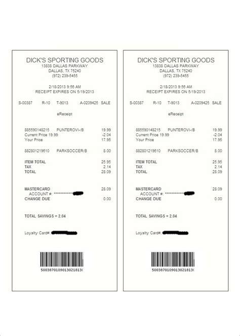 store receipt template store receipt template best template exles