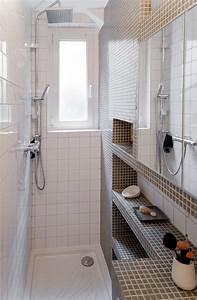 Salle De Bain Etroite : salle de bain pix dans un couloir de 90cm de large ma ma architectes salle d 39 eau wc wet ~ Melissatoandfro.com Idées de Décoration