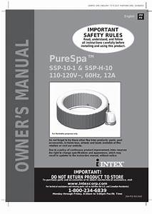 Intex Purespa 77 U0026quot  Bubble Massage Spa 2014 User Manual