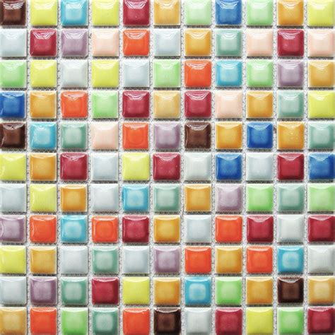 rainbow colorful multi colors ceramic mosaic bathroom