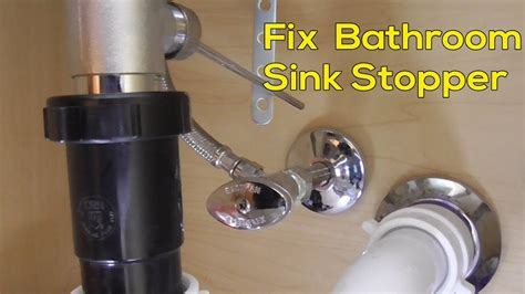 fix stopper  bathroom sink faucet quick  easy