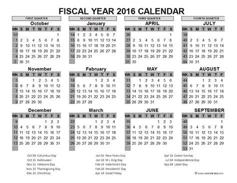 fiscal year calendar usa printable templates