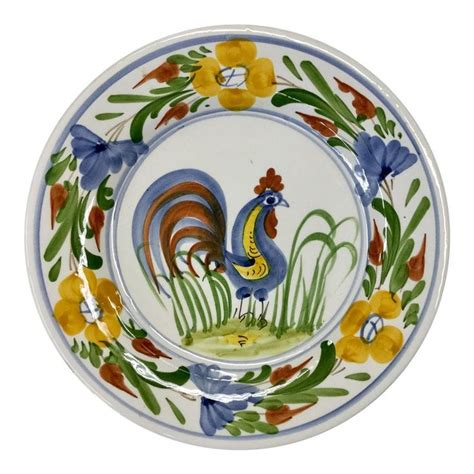 italian hand painted rooster plate rooster plates rooster painting hand painted