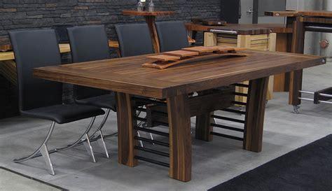table de cuisine en bois massif table bois cuisine table bois et zinc table de cuisine