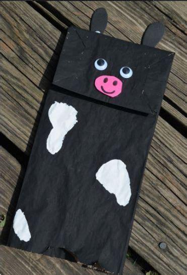 farm themed brown paper bag puppets  preschool