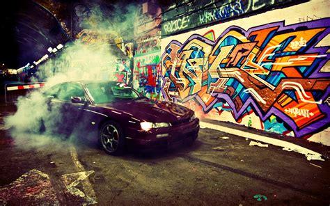cars, smoke, graffiti, underground, burnout, jdm, Nissan