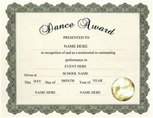 free award templates for elementary school thepaperseller With dance certificate templates free download