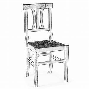 Sedia in legno grezzo da verniciare Arte Povera legno grezzo