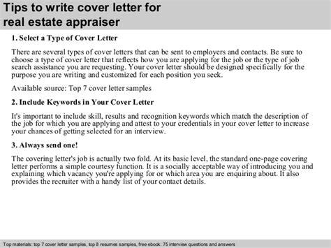 Appraiser Resume Cover Letter by Real Estate Appraiser Cover Letter