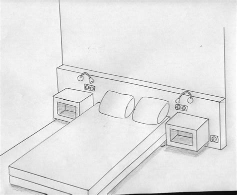 comment dessiner sa chambre comment dessiner un lit en 3d