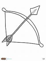 Arrow Bow Coloring Pages Printable Clipart Bows Drawing Outline Archery Hair Clip Template Drawings Sheets Designs sketch template
