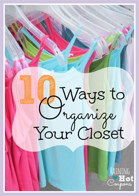 10 simple ways to organize your closet