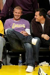 David Beckham in Celebrities Attend The Lakers Game - Zimbio