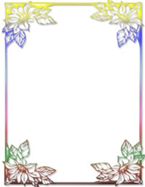 rainbow floral ms word stationery