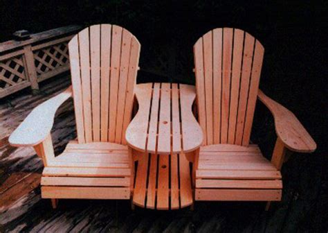 standard size adirondack chair settee kit plan