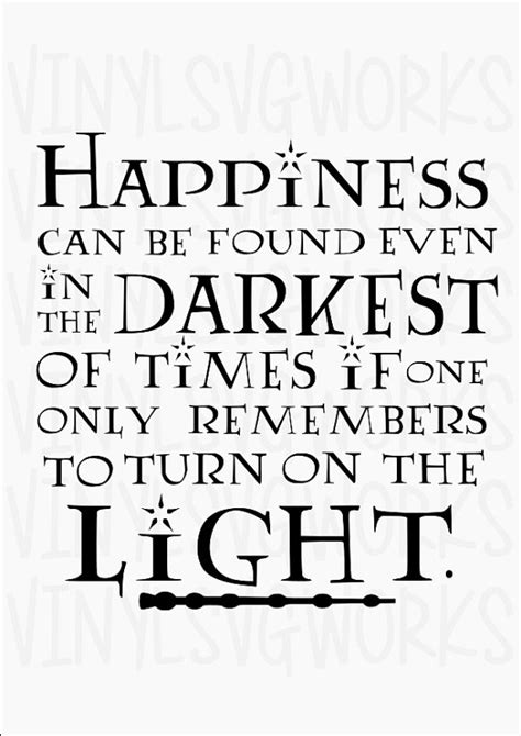 happiness  dark harry potter svg file