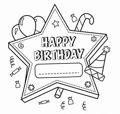 Birthday Coloring Happy Pages Printable Mom Getcolorings