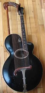 1906 Gibson Harp Guitar With 12 Sub