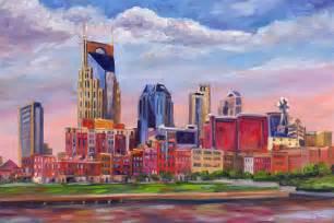 Nashville Skyline Painting